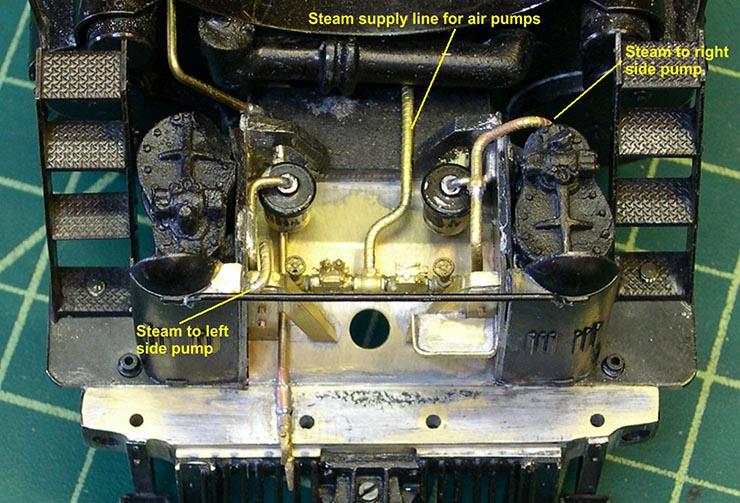 atsf santa fe 5001 2-10-4 air pump plumbing 7