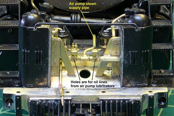 atsf santa fe 5001 2-10-4 air pump plumbing 8