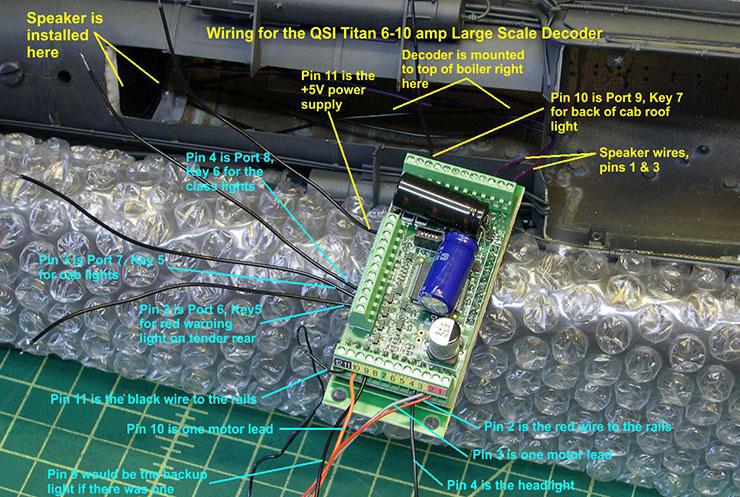 atsf santa fe 5001 2-10-4 QSI wiring