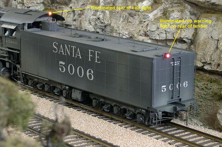 atsf santa fe 5001 2-10-4 lights